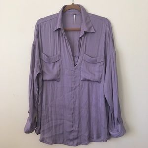 Free People Lavender tunic top